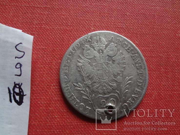 20 крейцеров 1794 Австрия серебро (S.9.10)~, фото №4
