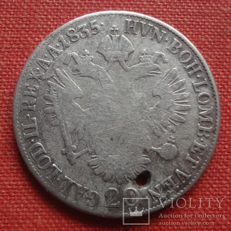 20 крейцеров 1835  Австро-Венгрия серебро  (S.9.11)~, фото №2