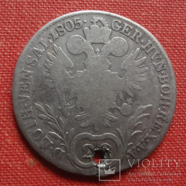 20 крейцеров 1805 Австрия серебро (S.9.13)~, фото №2