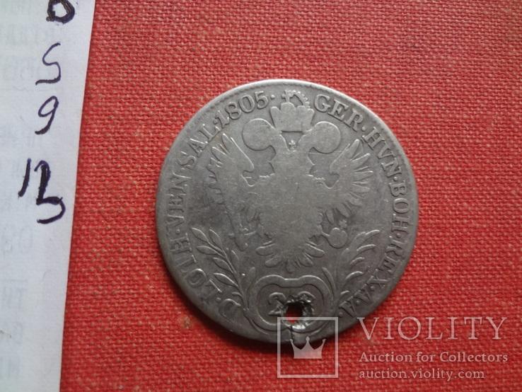 20 крейцеров 1805 Австрия серебро (S.9.13)~, фото №4