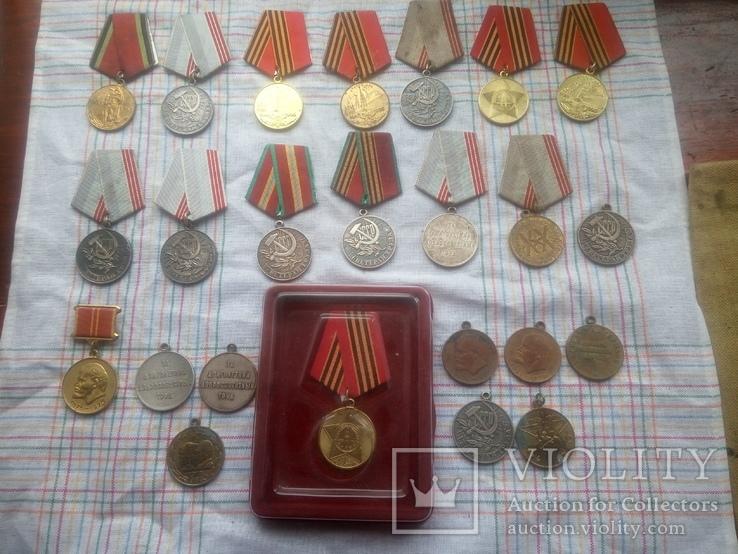 Лот     Ювілейних   медалів  СССР   24штук  \15  і   9\, фото №2