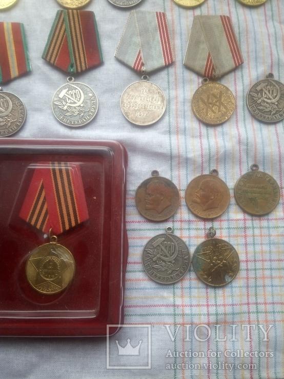 Лот     Ювілейних   медалів  СССР   24штук  \15  і   9\, фото №6