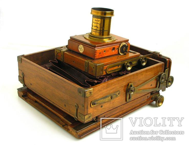 Фотоаппарат деревянный,конец 1800-х г.г.,Англия., фото №13