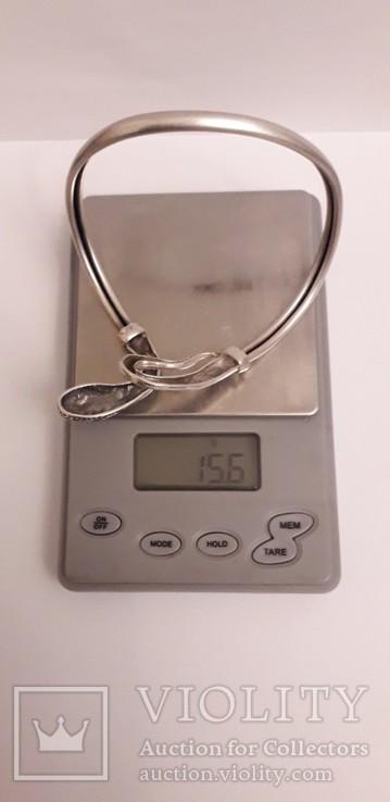 """Срібний браслет """"Змія"""", фото №7"""