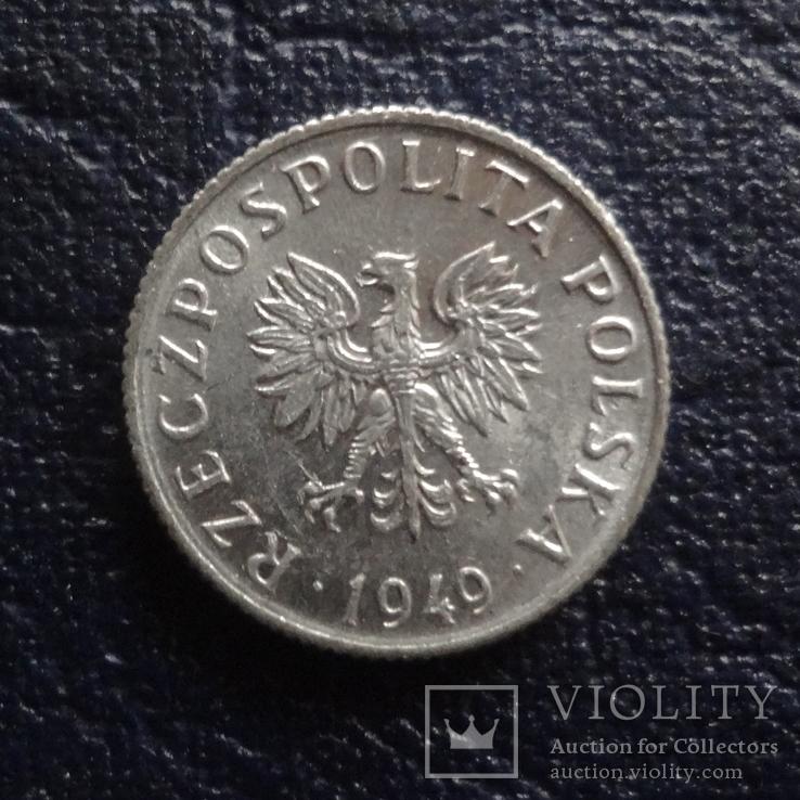 1 грош 1949  Польша  (Ж.1.25)~, фото №3