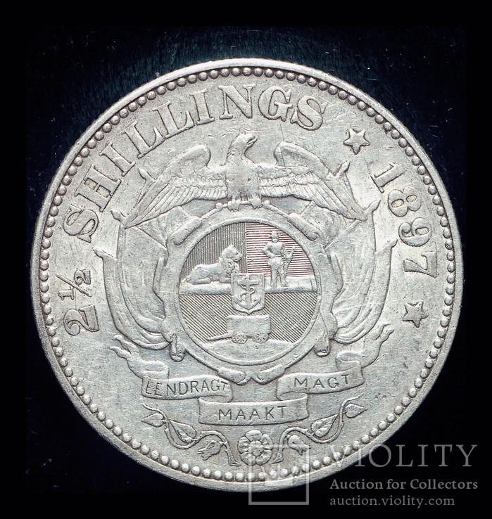 ЮАР 2 1-2 шиллинга 1895 серебро