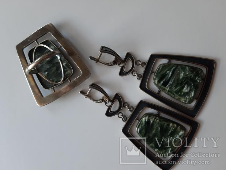 Набор серебро перламутр, фото №4