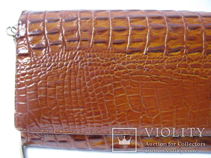 Клатч.кожа крокодила.винтаж.(2), фото №4