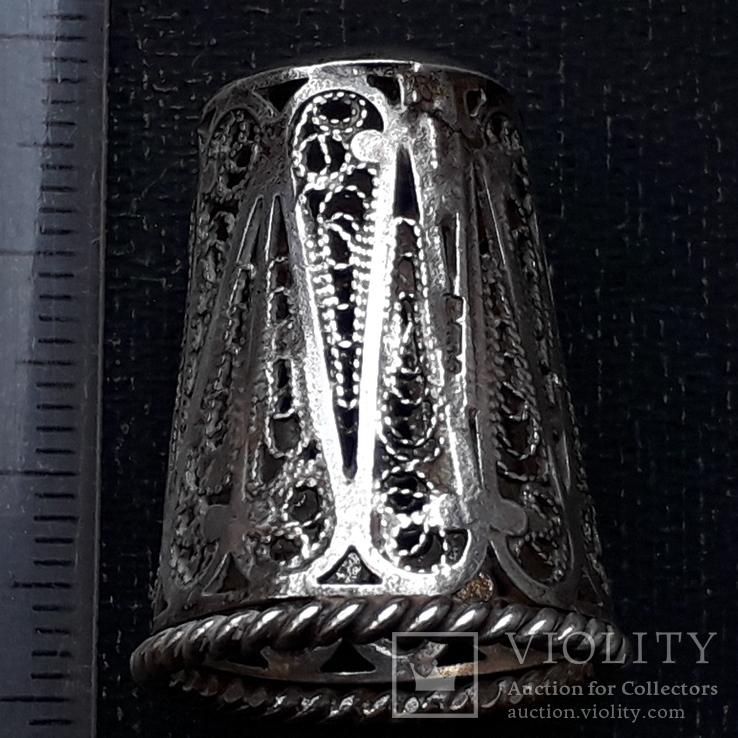 Напёрсток, наперсток, серебро, 7- грамм, филигрань