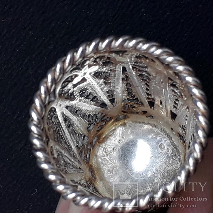 Напёрсток, наперсток, серебро, 7- грамм, филигрань, фото №6