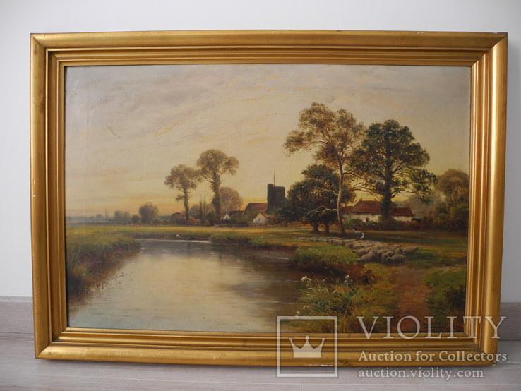 Старинная Большая Картина ( Европа , Herbert King ) 87*61 см.