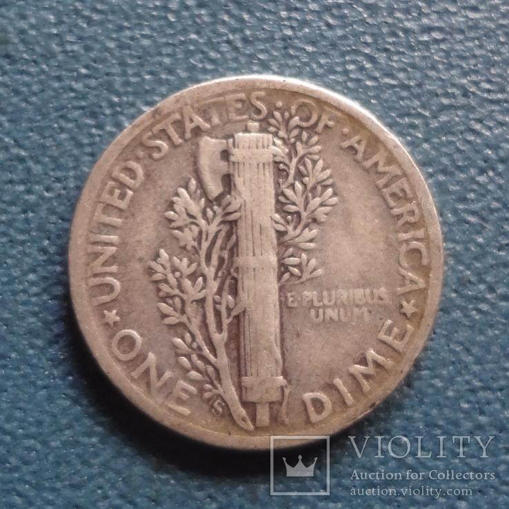 10 центов 1941 S  США    серебро   (Z.2.3)~, фото №3