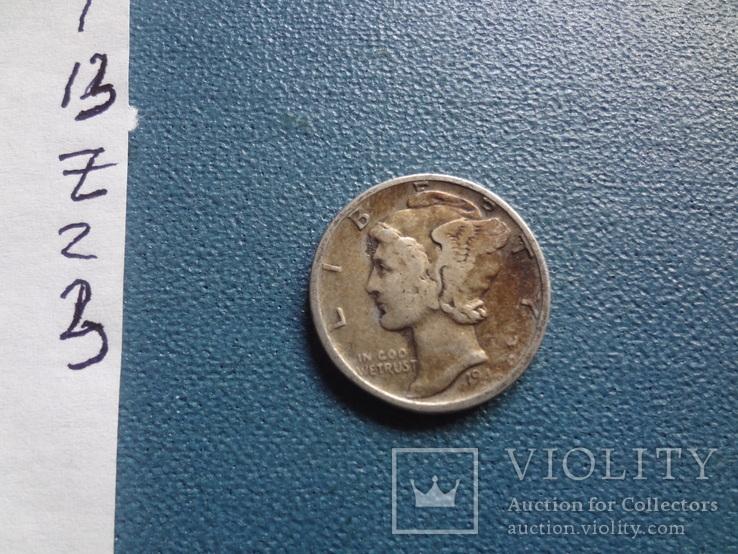 10 центов 1941 S  США    серебро   (Z.2.3)~, фото №4