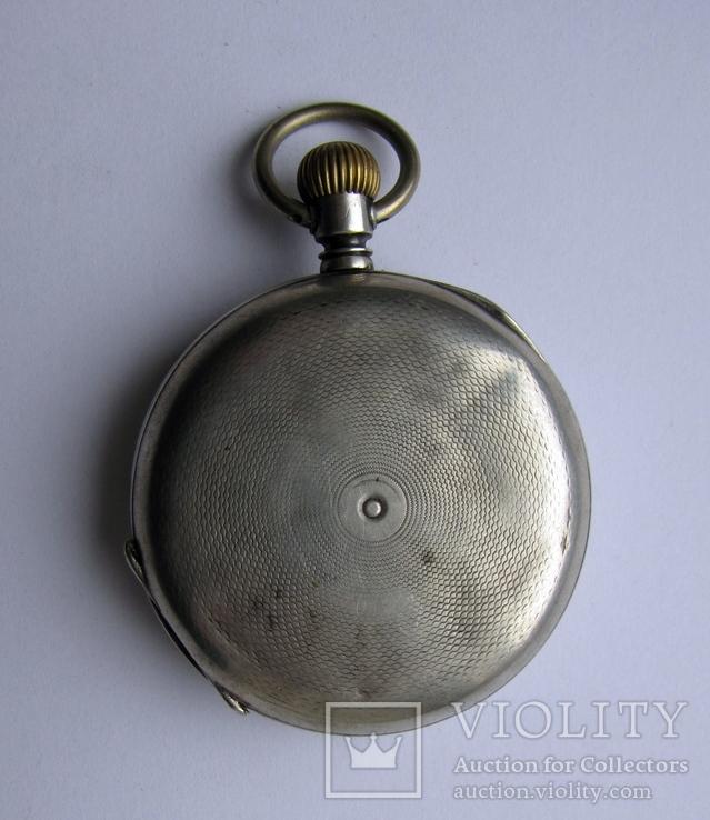 Часы карманные Blondel . Двойная крышка . Серебро, фото №3