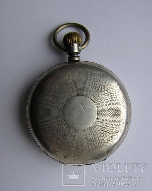 Часы карманные Blondel . Двойная крышка . Серебро, фото №6