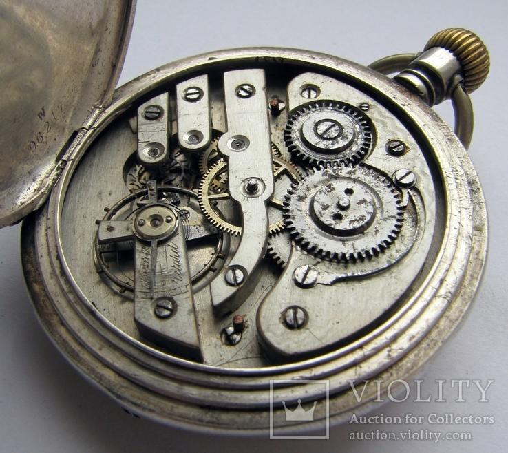 Часы карманные Blondel . Двойная крышка . Серебро, фото №9