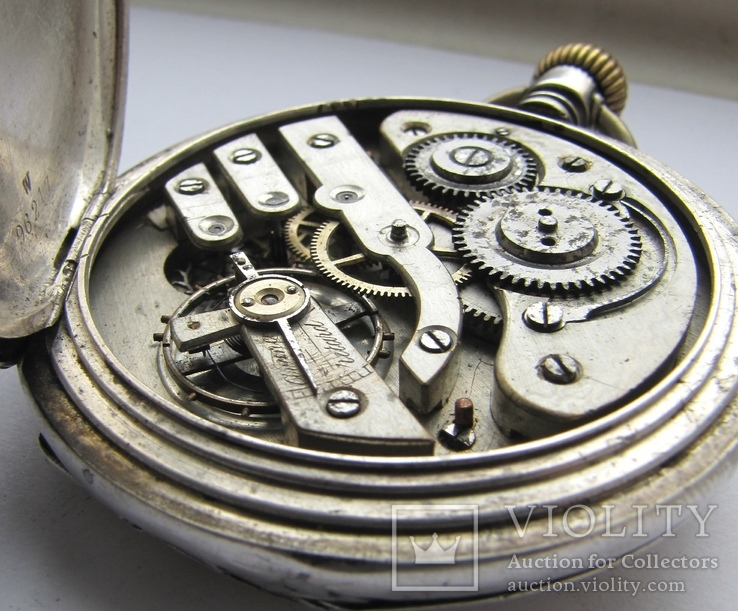 Часы карманные Blondel . Двойная крышка . Серебро, фото №10