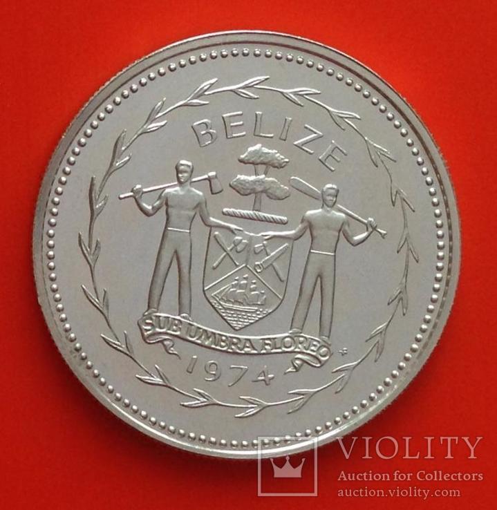 Белиз 25 центов 1974 серебро 925 Птицы, фото №3