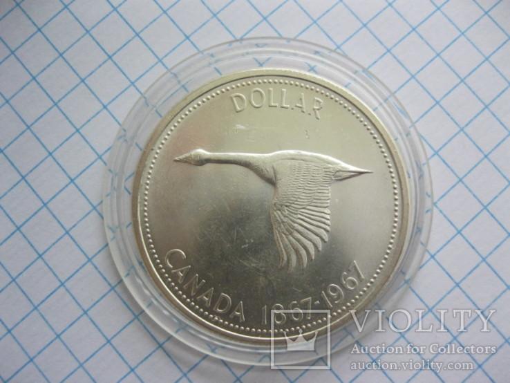 1 доллар 1867-1967 Канадский гусь