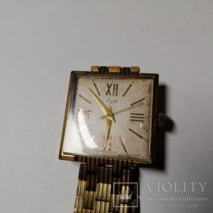 Часы Луч АУ-20 с позолоченным браслетом 23 камня
