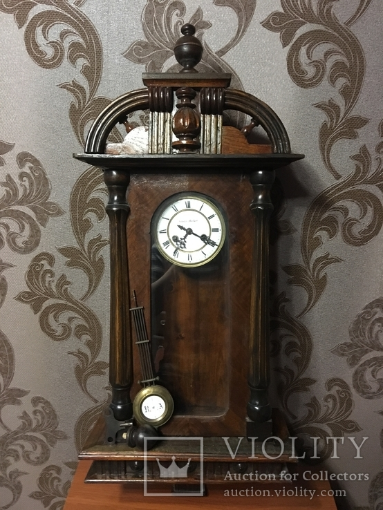 №0022 Настенные Часы Gustav Becker с боем