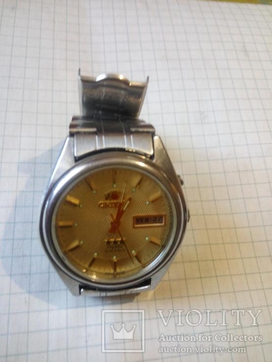 Часы orient (с прозрачной нижней крышкой ) 21 камень
