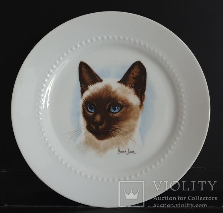 Фарфоровая,  настенная тарелка с котом.Bareuther. Германия