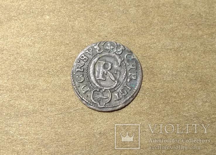 Солид Ливония Кристина 1645 (Haljak 1423b SB. - EF)