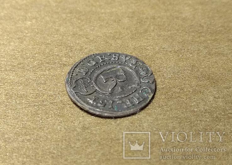 Солид Ливония Кристина 1645 (Haljak 1423b SB. - EF), фото №3