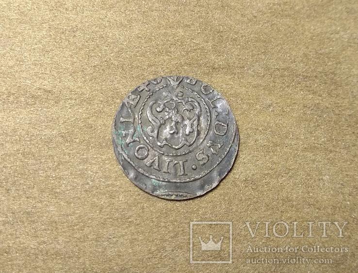 Солид Ливония Кристина 1645 (Haljak 1423b SB. - EF), фото №6