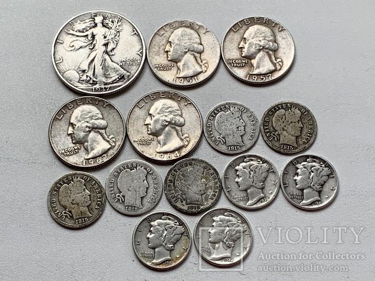 14 Монет Серебром США