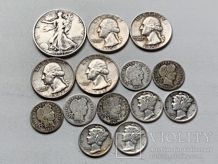 14 Монет Серебром США, фото №3
