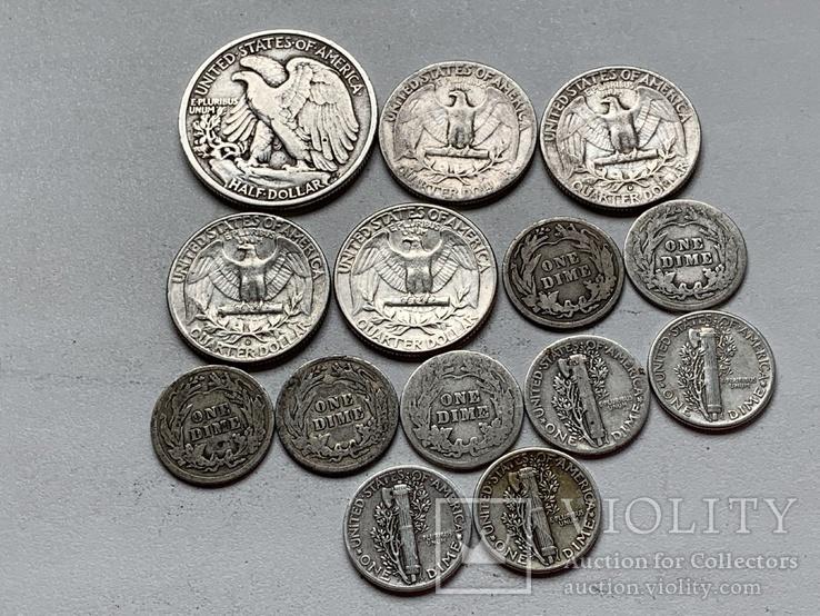 14 Монет Серебром США, фото №4