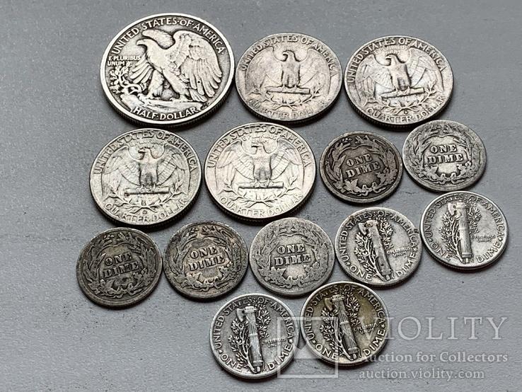 14 Монет Серебром США, фото №5