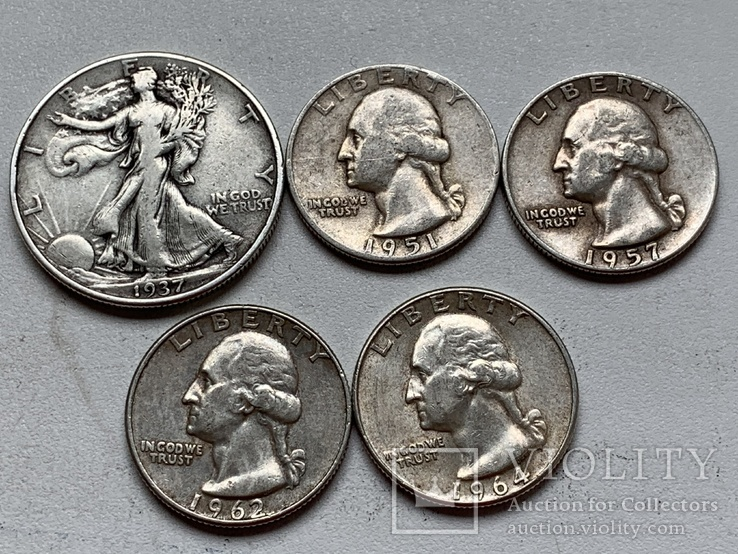 14 Монет Серебром США, фото №7