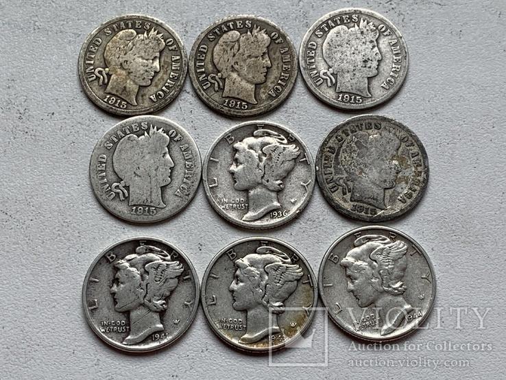 14 Монет Серебром США, фото №8