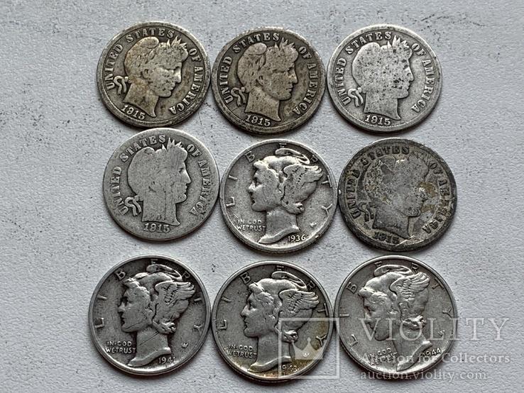 14 Монет Серебром США, фото №10