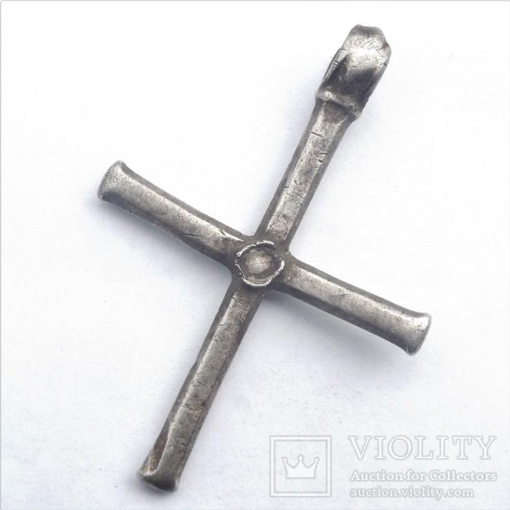 Византийский серебряный крест