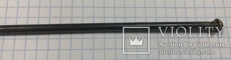 Серебряная коктельная ложка 916 пробы. 26 см. 25,6 грамм, фото №4