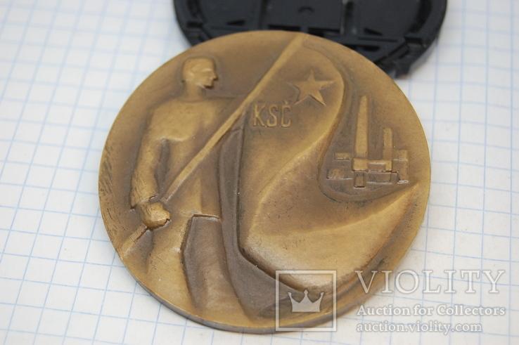 Медаль Ком Партия Чехословакия. 1931-1971 Тяжелая.