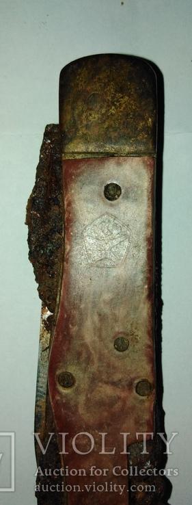 Туристический 6-ти предметный нож СССР на запасные части., фото №2