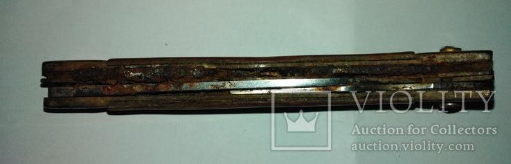 Туристический 6-ти предметный нож СССР на запасные части., фото №4