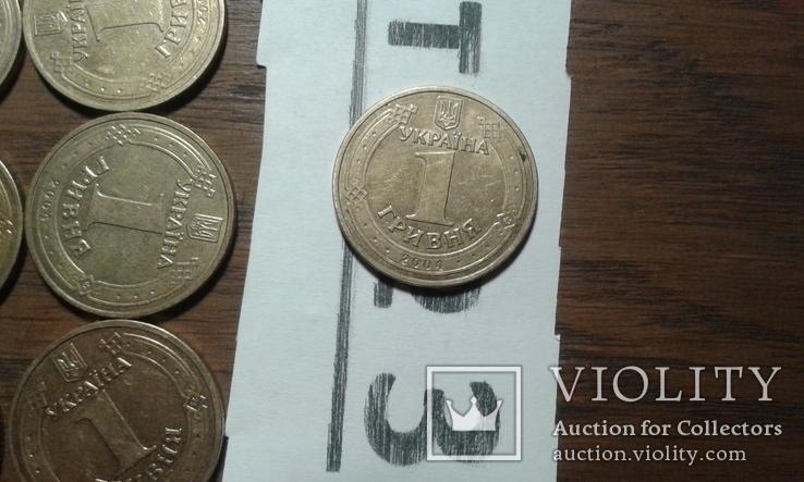 1 грн 2004 рік (год) 190 штук лот №3, фото №4