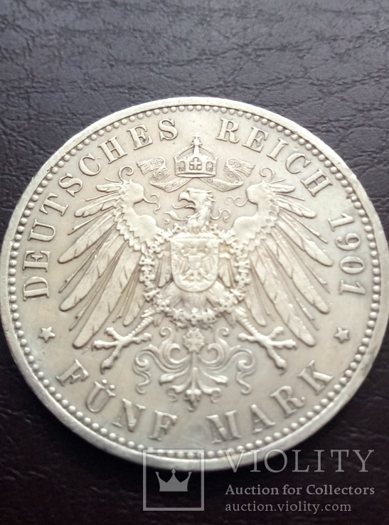 5 Марок 1901года. 200 лет Пруссии.