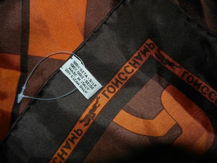 Longchamp,paris,оригинал, коричневый шелковый платок,натуральный саржевый шелк,новый., фото №5