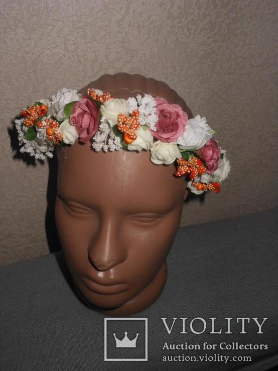Обруч,ободок,венок,веночек искусственные цветы, фото №3