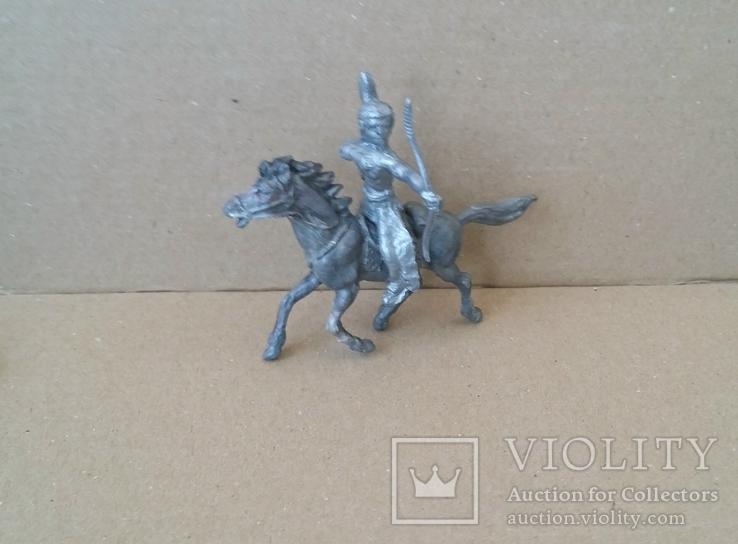 Индеец на лошади с луком серебристого цвета Texas Италия 1960-1970-х годов, фото №2