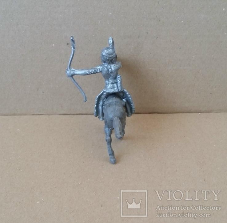 Индеец на лошади с луком серебристого цвета Texas Италия 1960-1970-х годов, фото №3