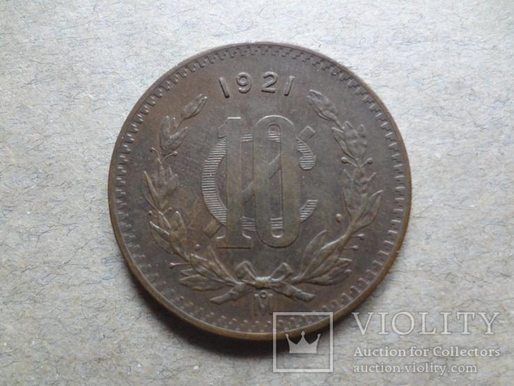 10 сентаво 1921  Мексика, фото №2