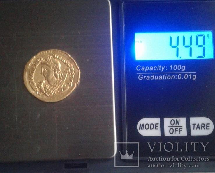 Золотий Солід Valentiniana III, фото №9
